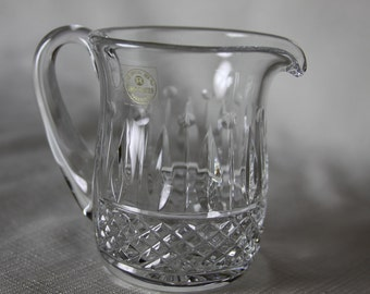 Lead Crystal Pitcher Hand Crafted Yugoslavia Decorative Creamer Sparkly