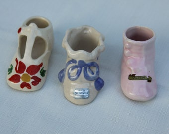 Souvenir Shoes Collection Rio Hondo Potteries California Baby Bootie Toddler Shoe