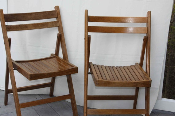 sale vintage wooden folding chairs antique touch for your