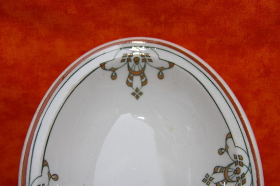 Side dishes Iroquois China The Stearnes Co Chicago White and Orange Dessert bowls