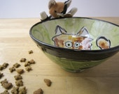 Calico Cat Pottery Clay Bowl / Handmade