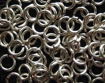 Jump Rings 200 -- 18 ga  4.5mm Handmade Non Tarnish Silver