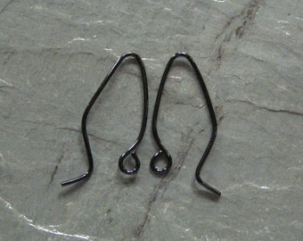 10 PAIRS  Black Ear Wires
