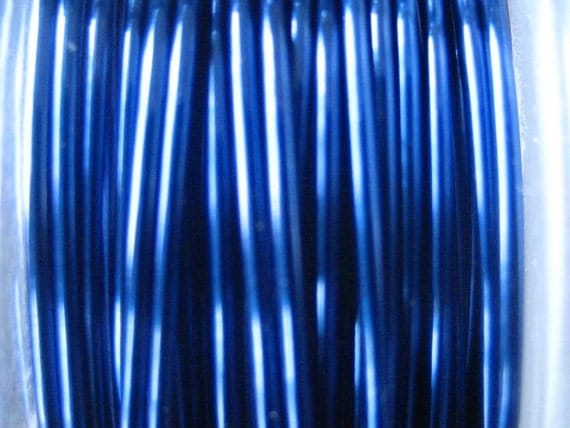12 ft -- 24 gauge  Viking Knit crochet Flag Blue Wire