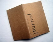 Journal no.2-Mini Notebook-Repurposed Brown Paper Bag Cover