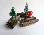 Woodland Decorations- Set of 3- Sweet and Mini- Unique and Handmade