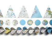 World Map Garland Assortment - Awesome Classroom Decorations - Aquamarine