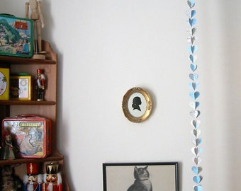 Map Heart Garland - Extra Long - 60 Inches - Repurposed Vintage National Geographic Atlas - Classroom Decoration - Repurposed Party Supplies