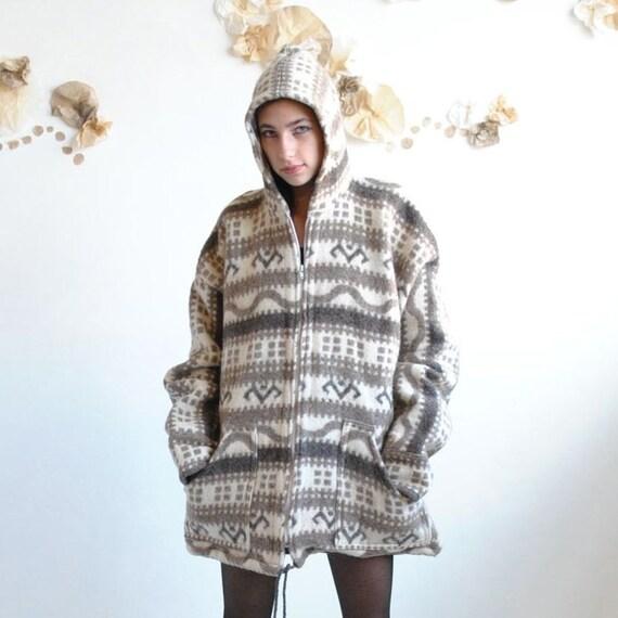 Wool Coat  //  Ethnic Hoodie  //  ESKIMO FREEZE