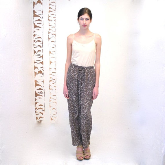 Drawstring Pants  //  Lounge Pants  //  MUSHROOM FLOWERS