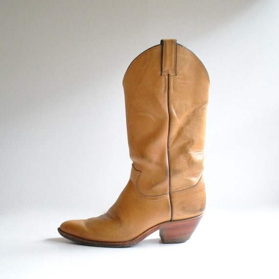 Justin Boots Sz 9.5  //  Cowboy Boots Size 9 1/2  //  TEQUILA LEATHER