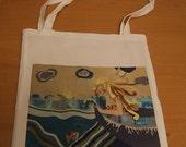 Mermaid  library  book-bag