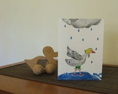 Original illustrated greeting card - Goose