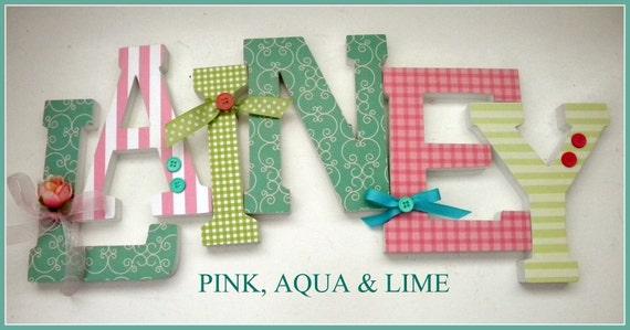 6, Wooden Letters, VALUE PRICED, Six Inch,  Block Style, Wood Letter, Custom nursery, name decor, baby boy, girl, freestanding, shower gift