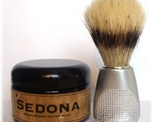 Old Fashioned Shave Soap in a Jar with Boar Bristle Brush - Choose Your Scent - by MAN CAVE SOAPWORKS