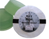 SHAVE Soap - BAY RUM - Shaving Cake with Bentonite Clay and Shea Butter - shaving soap refills for shaving mugs too - by Man Cave Soapworks