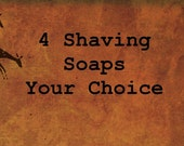 SHAVING SOAP - Shave Puck Refill - Men's 4 Pack - by Man Cave Soapworks