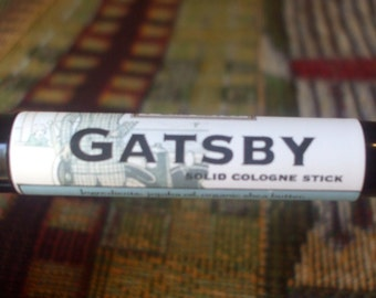 Solid COLOGNE Stick - GATSBY - classic scent by Man Cave Soapworks-ships FREE to U S