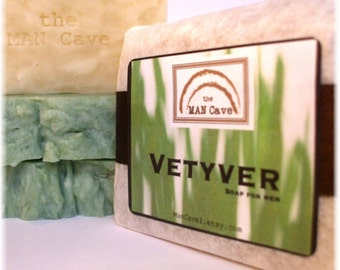 SOAP - VETYVER - Hand Crafted with Organic Oils and Moisturizing Shea Butter by Man Cave Soapworks