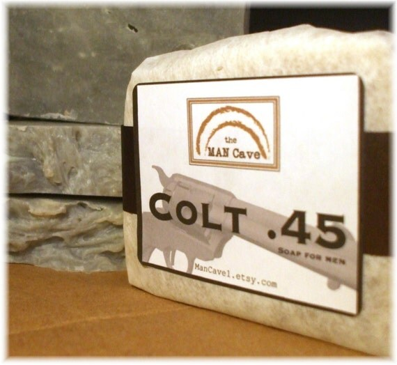 SOAP for Guys - COLT .45 - with Organic Oils and Moisturizing Shea Butter by Man Cave Soapworks