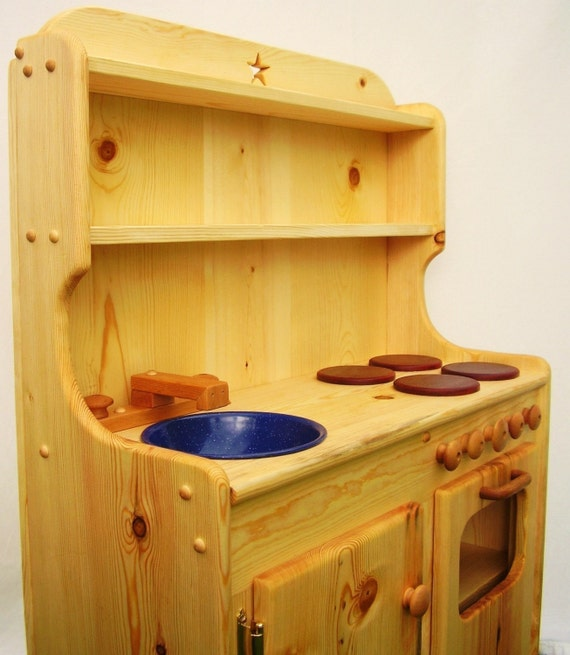 Items Similar To Large Wooden Play Kitchen By Heartwood Natural Toys On Etsy