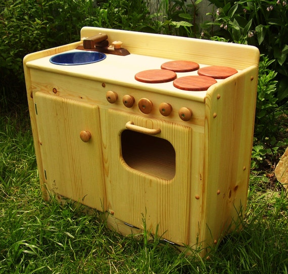 Items Similar To Small Wooden Play Kitchen By Heartwood Natural Toys On Etsy