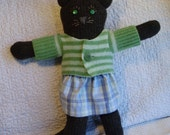 Sweater Kitty Brown and Green