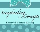 Reserved Custom Listing for LittlePink - Paper