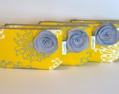 Yellow, Gray and White ... Curvy Clutch ... Micheal Miller
