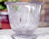 Early American Pattern Glass Aegis Open Sugar 1880s