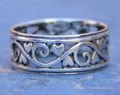Ornate 925 Sterling Band Ring
