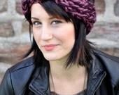 Do the Twist Knit Earwarmer in Royal Purple