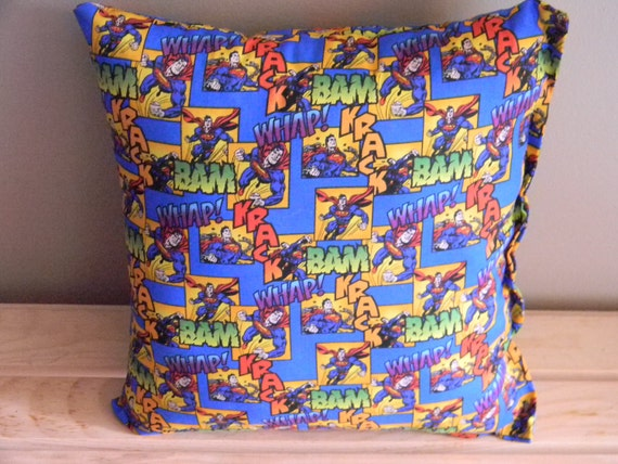 Superman Comic Book Page Pillow