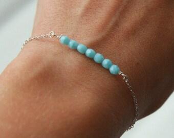 Silver Bracelet,Beaded Bracelet,Friendship Bracelet,Simple Bracelet,Stacking Bracelet,Layering Bracelet,Layered Bracelet,Dainty Bracelet
