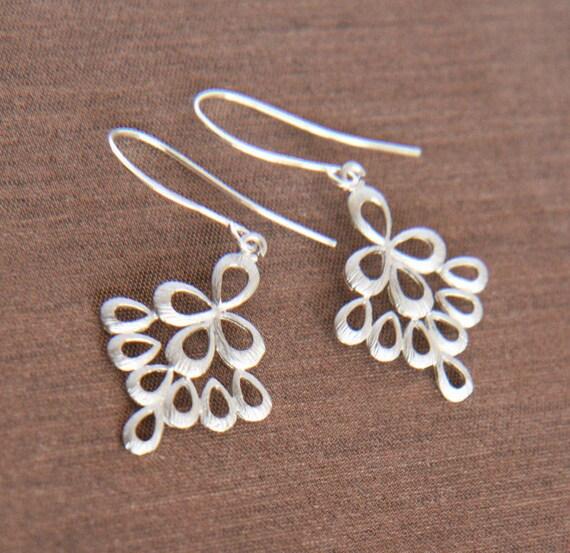 Silver Earrings,Dangle Earrings,Dainty Jewelry,Dainty Earrings,Simple Earrings,Light Earrings
