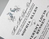 ELLEN's peacock social - Hand-drawn typography wedding invitation