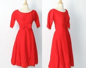 vintage 1960s Red Party Dress / sale