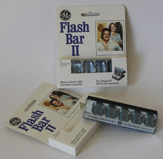 GE Flash Bar II Polaroid SX-70 Camera Bulbs Twin Pack