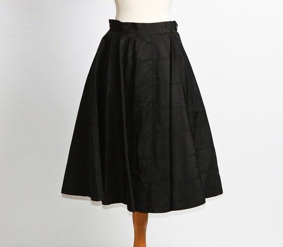 1950s circle skirt / black