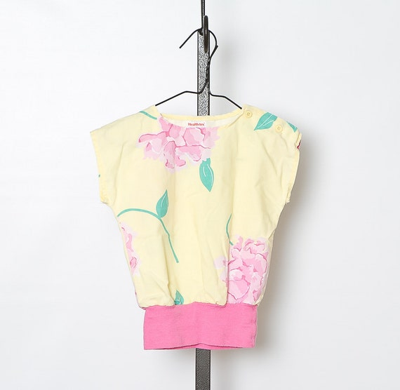 vintage 80s toddler girls tropical top