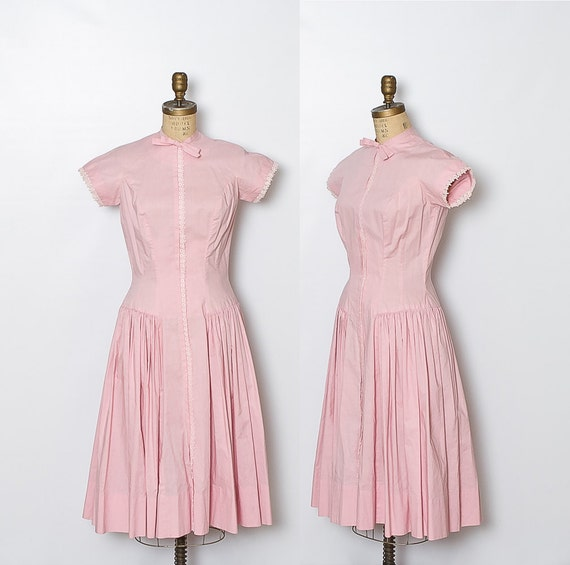 vintage 1950s dress / pink