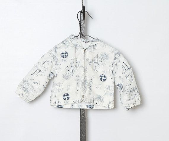 vintage 1980s nautical toddler jacket / sale