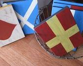 FIVE---Nautical Signal Flag Signs ----Weddings--Birthdays---Room Decor