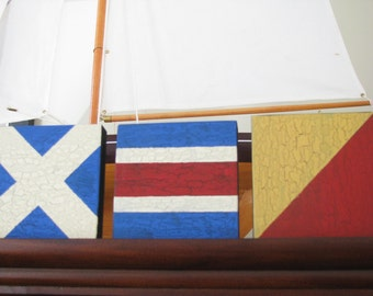 4 Small Nautical Signal Flag  Signs   Initials  Monogram 4