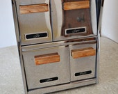 Vintage Stainless Steel Drawer Canister Set