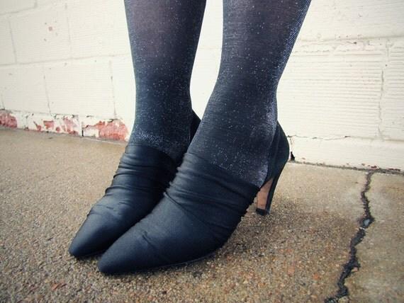 Black Stretch Heels