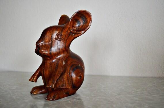 Cutest Vintage Wooden Bunny Rabbit