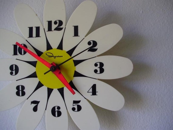 Ingraham Flower Wall Clock
