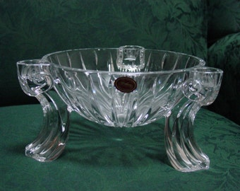 Vintage Gorham Lead Crystal Scroll Centerpiece Epergne Victorian Style