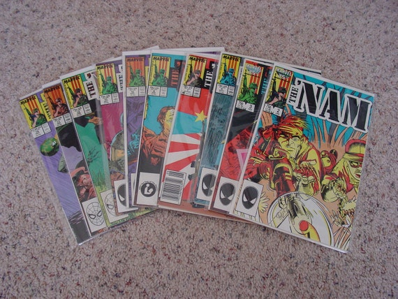 "10 Marvel Comic Books "" The 'Nam "" War in Asia"